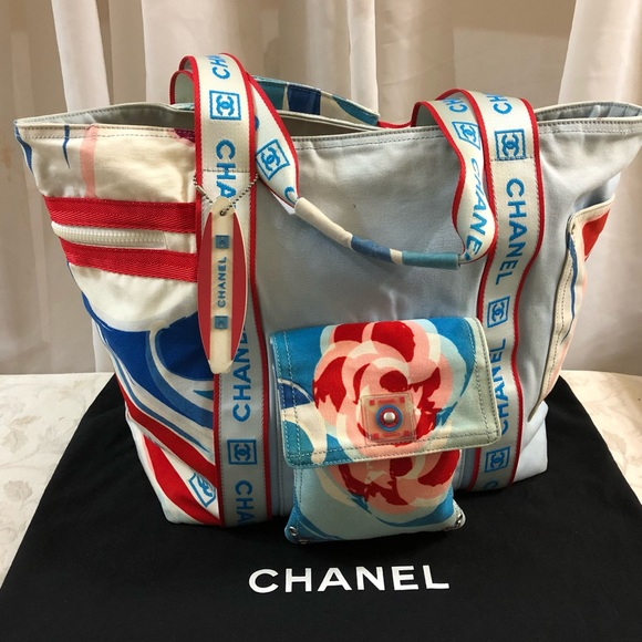 94d9d7bb6ba3 CHANEL Bags | Surf Line Signature Tote Bag | Poshmark